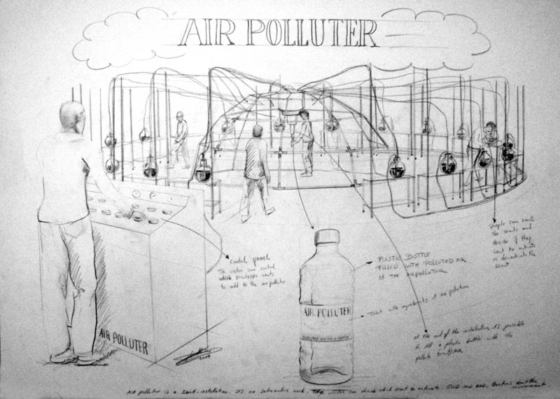You are browsing images from the article: Solo-exhibition 'Air Polluter' Brakke Grond - Amsterdam